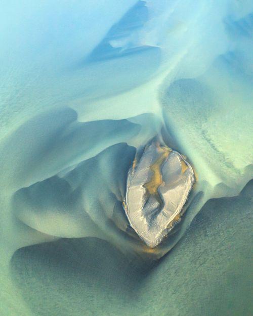 Iceland Aerial: Ode to Georgia O'Keeffe - On White