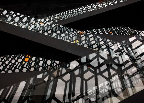 Harpa Shadow and Light - On White