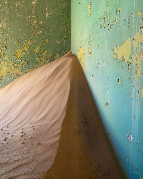 Kolmanskop Green Room - On White