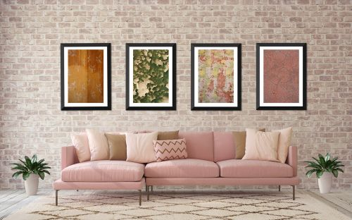 Kolmanskop Textures Set of 4 - On White