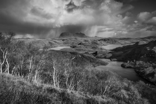 Storm Across Suilven - On White